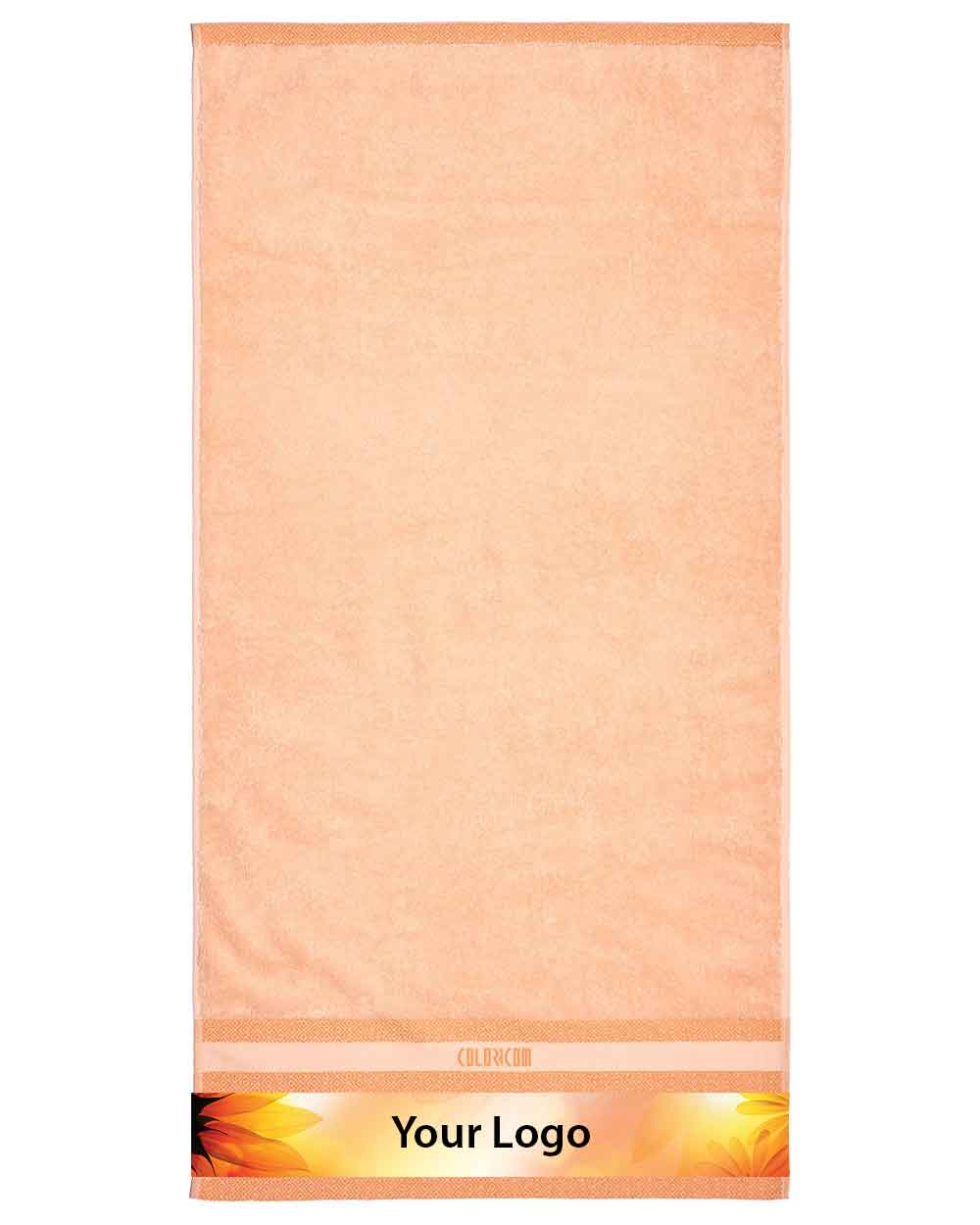 "Orange Mini Bath Towel (SIZE 20""X 40"")"