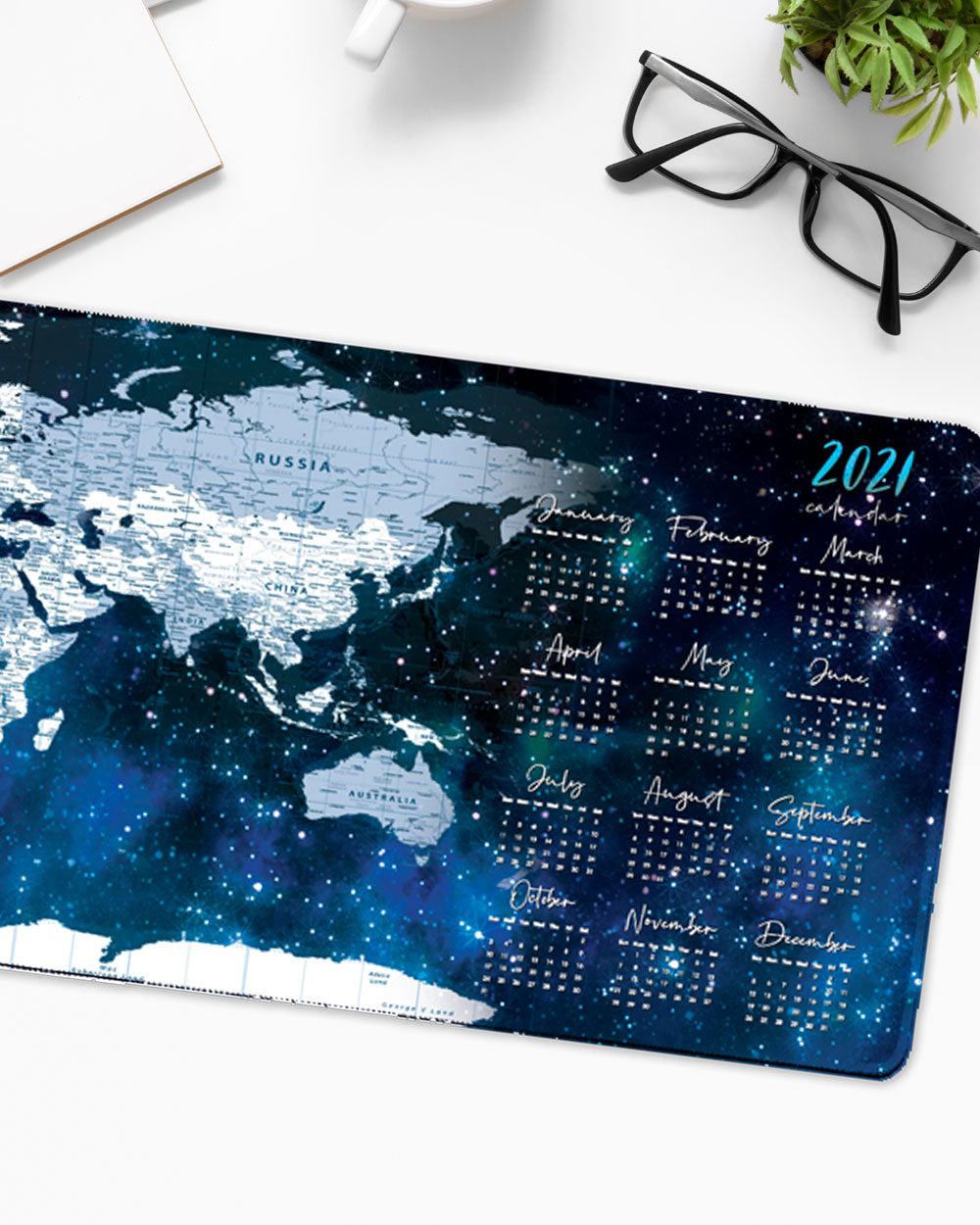"World Map Mouse Pad with Nonslip Base (SIZE 12""X 31"")"