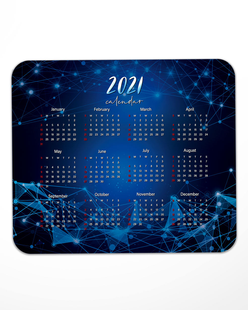 "2021 year Mouse Pad with Nonslip Base (SIZE 8""x9"")"