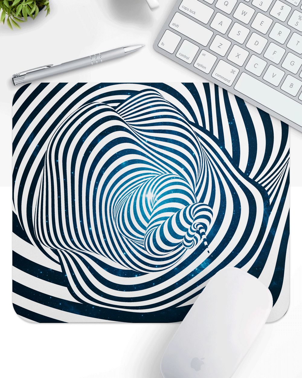 "Space Mouse Pad with Nonslip Base (SIZE 8""x9"")"