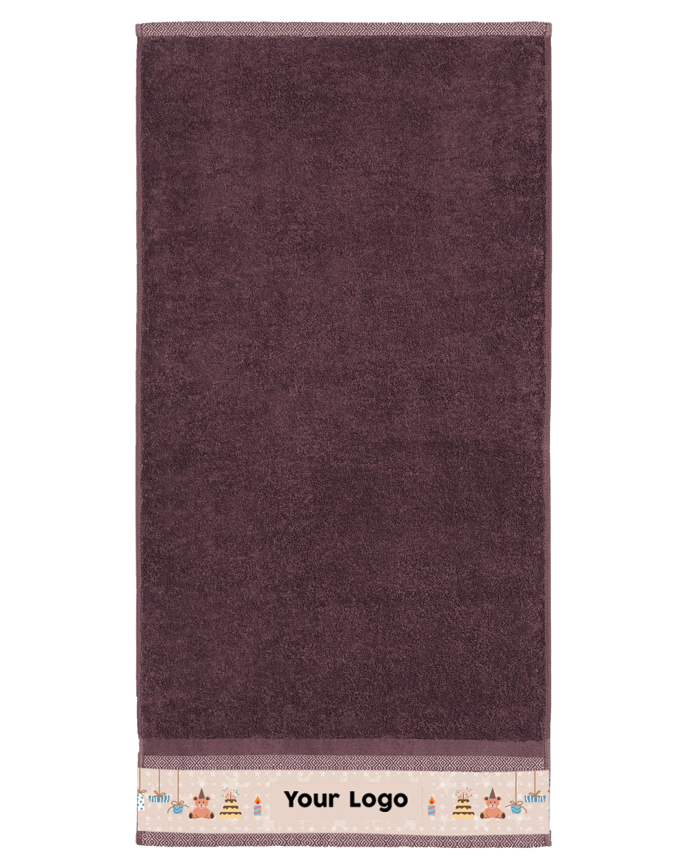 "Brown Hand Towel (SIZE 16""X 32"")"