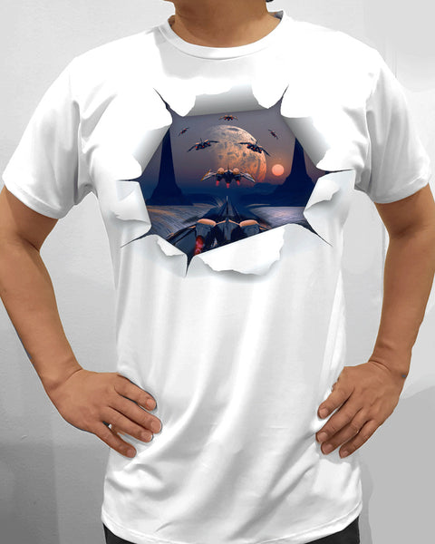 3D Design Men Poly 100% Short Sleeve,Sublimation T-Shirts