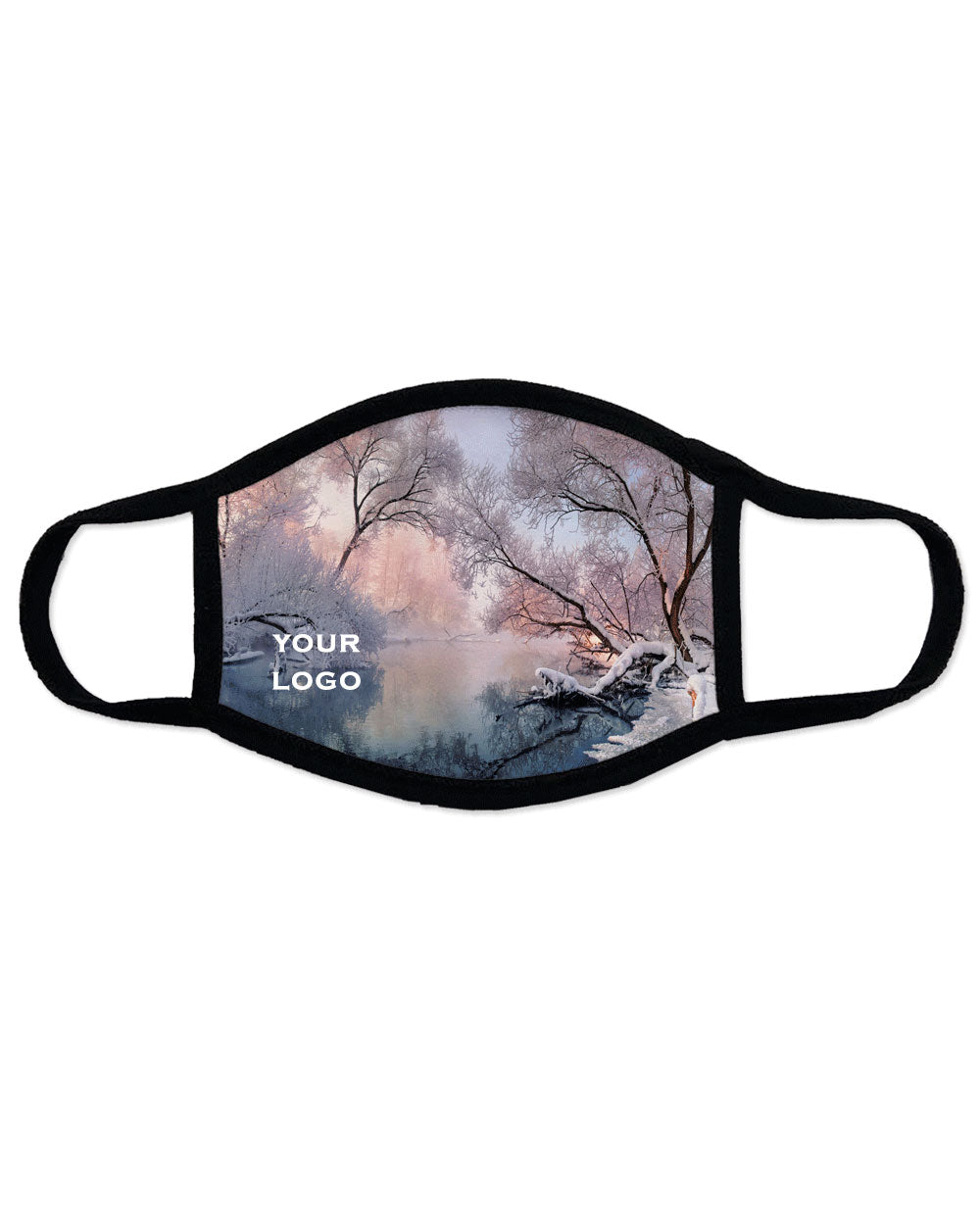 Winter scenery Face Mask,Reusable, Washable, Breathable