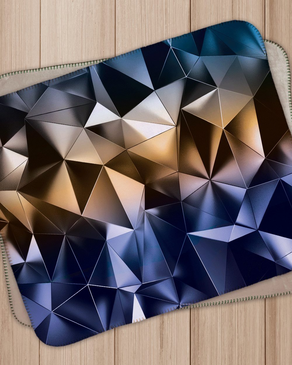 "Triangles 3D Design Sherpa  (SIZE 40""X 30"")"