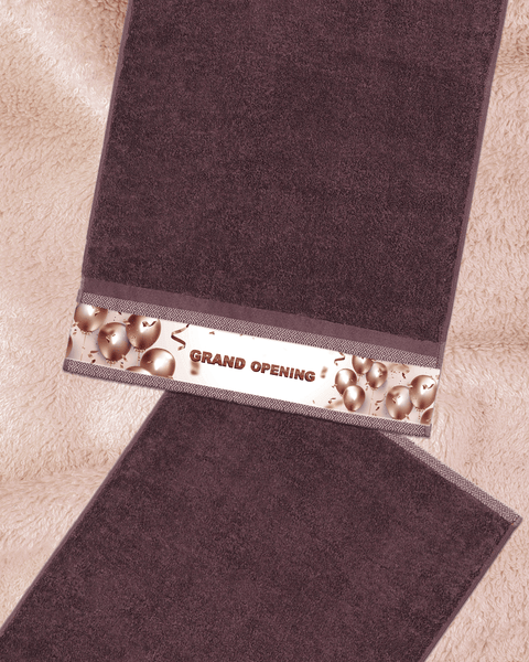 "Grand Opening Brown Hand Towel (SIZE 16""X 32"")"
