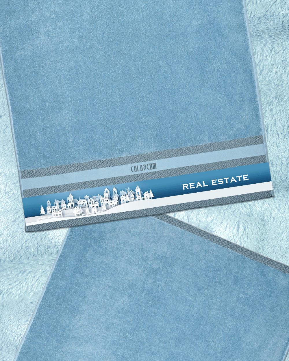 "Real Estate Blue Bath Towel (SIZE 27""X 53"")"
