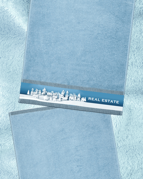 "Real Estate Blue Hand Towel (SIZE 16""X 32"")"