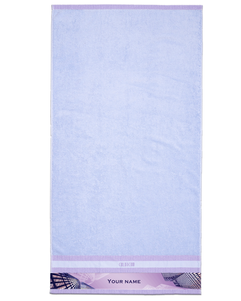 "Building Purple Bath Towel (SIZE 27""X 53"")"