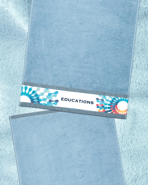 "Educations Blue Hand Towel (SIZE 16""X 32"")"