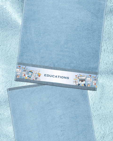 "Kind of Educations Blue Hand Towel (SIZE 16""X 32"")"