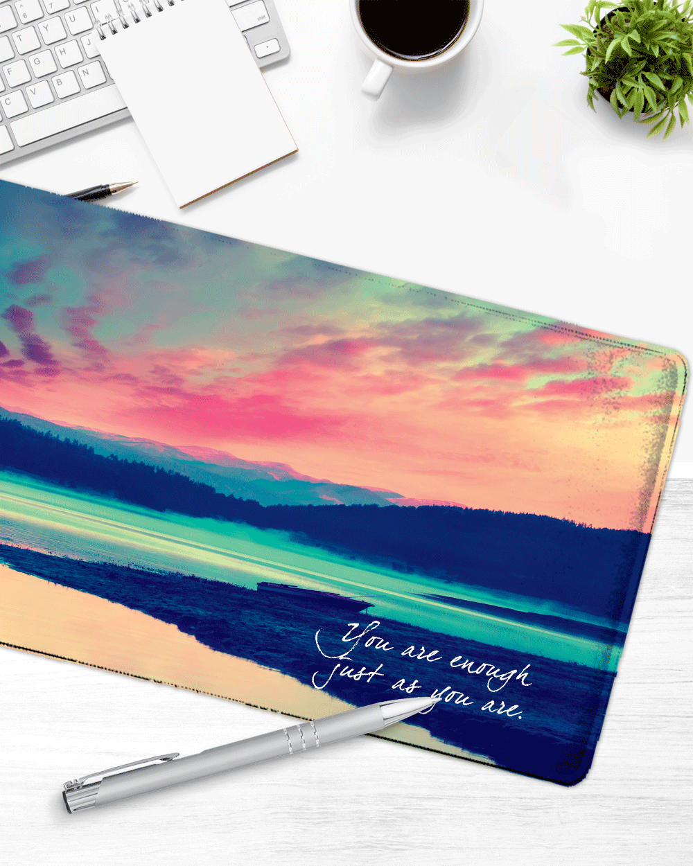 "Sunset Mouse Pad with Nonslip Base (SIZE 12""X 31"")"