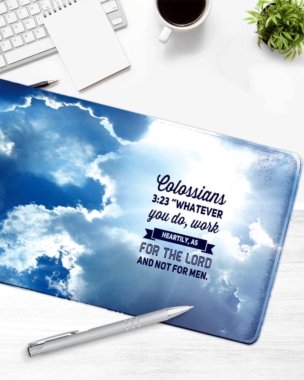 "Sky Mouse Pad with Nonslip Base (SIZE 12""X 31"")"