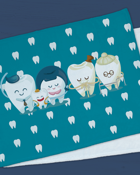 "Tooth Family Minky  (SIZE 40""X 30"")"