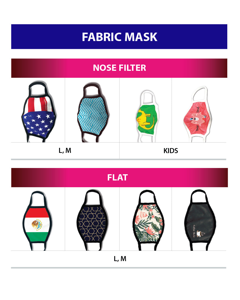 Face Mask,Reusable, Washable, Breathable