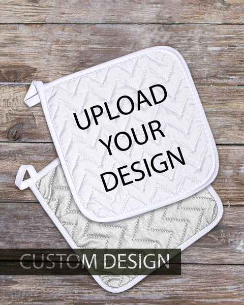 "Custom Design Pot Holder  (SIZE 8""X 8"")"