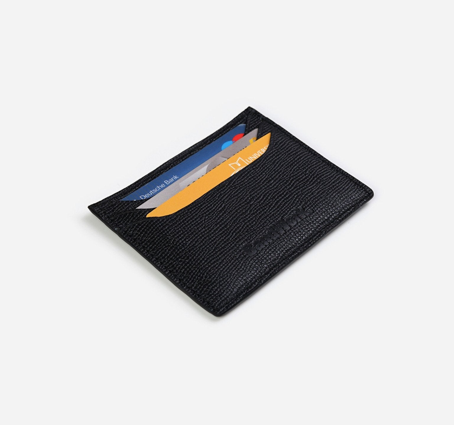 Saffiano | Noir | Card Holder