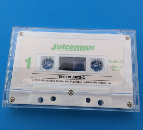 JUICEMAN JR. JM-1 JUICER REPLACEMENT PART Tips On Juicing Cassette Tape