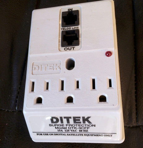 DITEK Model DTK-3CFF Satellite Surge Protection 15A 125 VAC 60 Hz