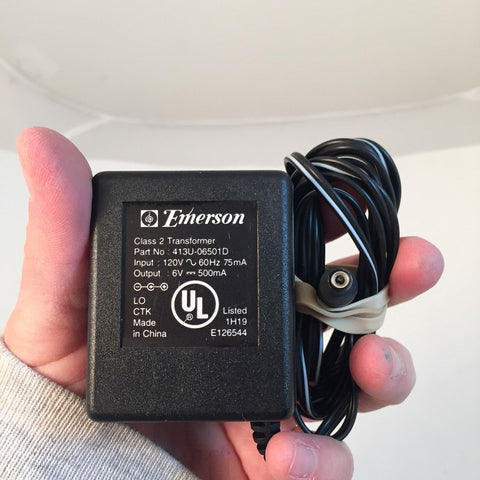 Emerson Power Supply Adapter 413U-06501D 6V 500mA