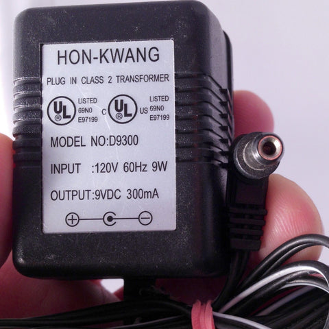 HON-KWANG D9300 9VDC 9V 300mA Power Supply Adapter Wall Wart