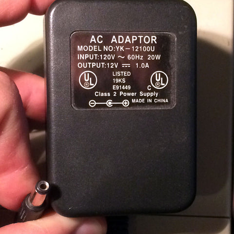 YK-12100U 12V 1.0A 1A Power Supply AC Adapter