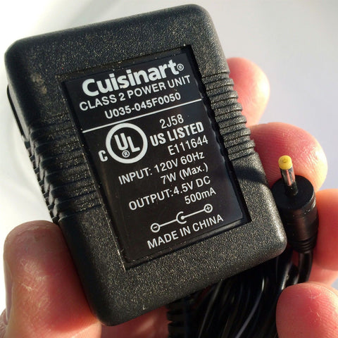 Cuisinart U035-045F0050 4.5V DC 500mA Power Supply AC Adapter