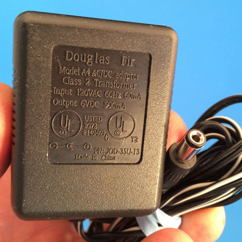 DOUGLAS FIR JOD-35U-13 6V 500mA POWER SUPPLY CLASS 2 TRANSFORMER AC Adapter