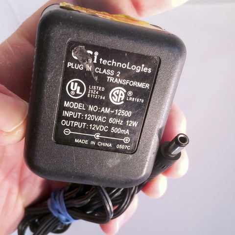 GCi techniLogies AM-12500 12V 500mA Power Supply AC Adapter
