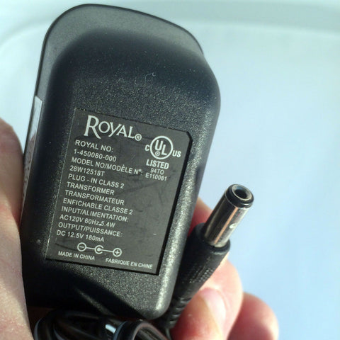 Royal 1-450080-000 28W12518T DC 12.5V 180mA Power Supply AC Adapter