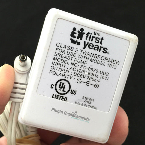 First Years Breast Pump 1075 PC-0670-DUS Power Supply Adapter Charger 6V 700mA