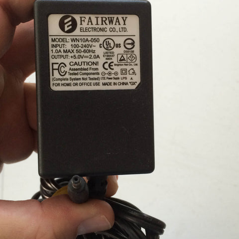 Fairway Electronic WN10A-050, Output: +5.0V 2.0A 5V 2A Power Supply AC/DC Adapter Wall Wart