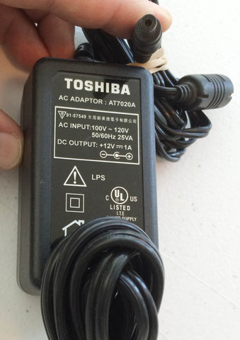 Toshiba AT7020A, DC Output: +12V 1A 12V Power Supply AC/DC Adapter Wall Wart