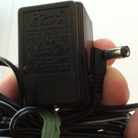 Cobra Model: 523-992-9-001 9V 200mA 9 V AC/DC Adapter Power Supply Wall Wart