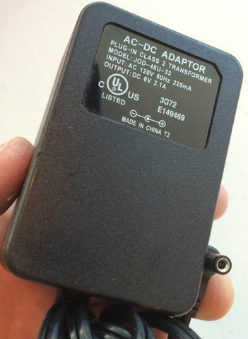Model: JOD-48U-33, Output: DV 6V 2.1A Power Supply Adapter