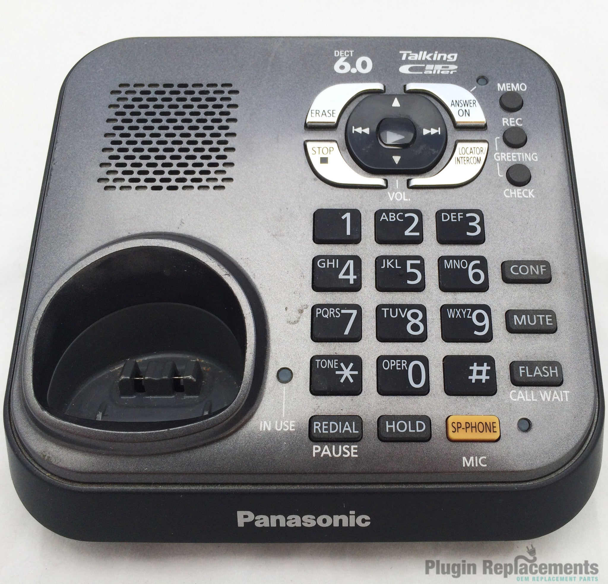 panasonic kx tg9341t cordless phone main base only replacement no rh pluginreplacements com Instruction Manual Book Operators Manual