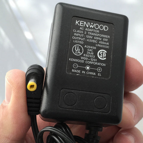 KENWOOD 4.5VDC 4.5V DC 450mA W09-1251 LR60353C OEM Power Supply Adapter Charger