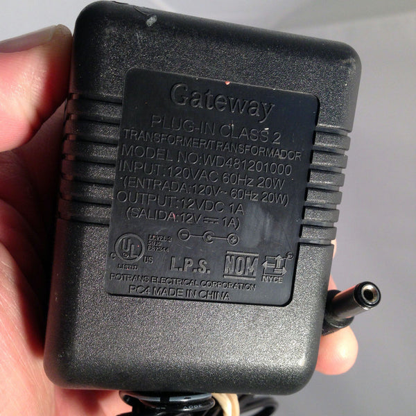 Gateway Potran WD481201000 Power Supply AC/DC Adapter Charger 12V 1A