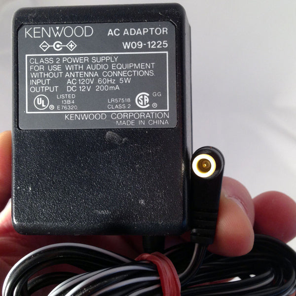 Kenwood W09 1225 Oem Power Supply Ac Dc Adapter Charger