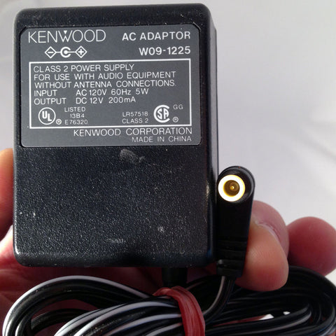 KENWOOD W09-1225 OEM Power Supply AC/DC Adapter Charger