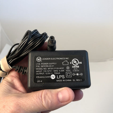 LEI MT20-21120-A01F 5670785-00-01 12V 750mA Power Supply Adapter