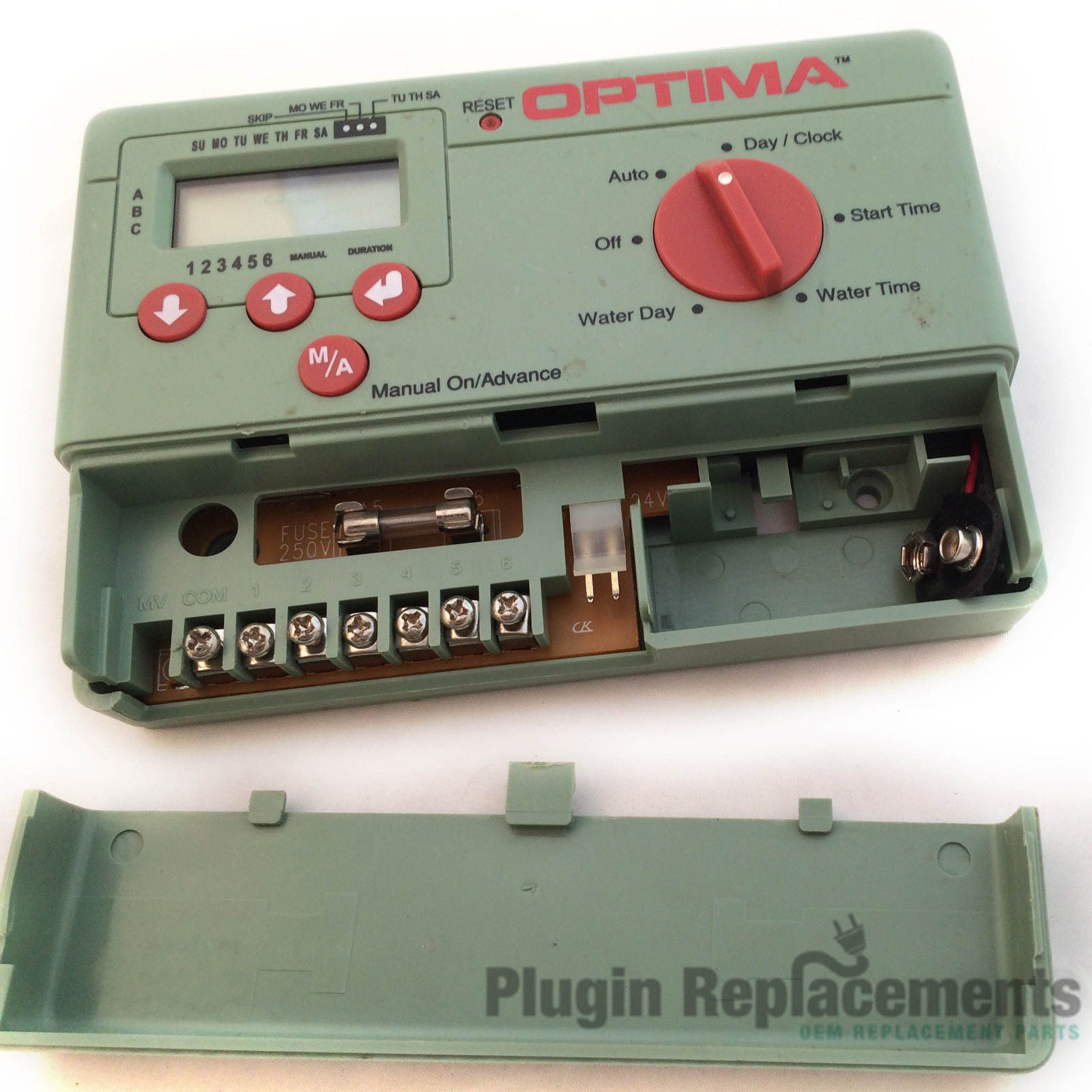 optima automatic sprinkler timer 6 station pc 306 plugin replacements rh pluginreplacements com Orbit Sprinkler Timer Manual 57894 Orbit 57161 Sprinkler Timer Manuals