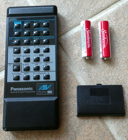 Panasonic CD/VCR Remote Control Transmitter EUR64149