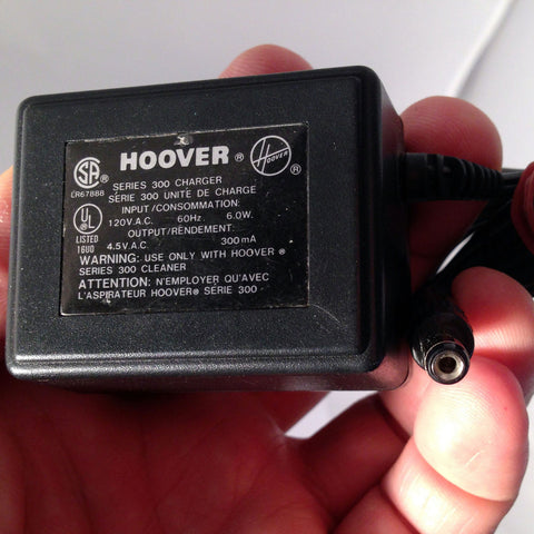 Hoover Adapter Power Supply Series 300 Vacuum Cleaner 4.5V 300mA