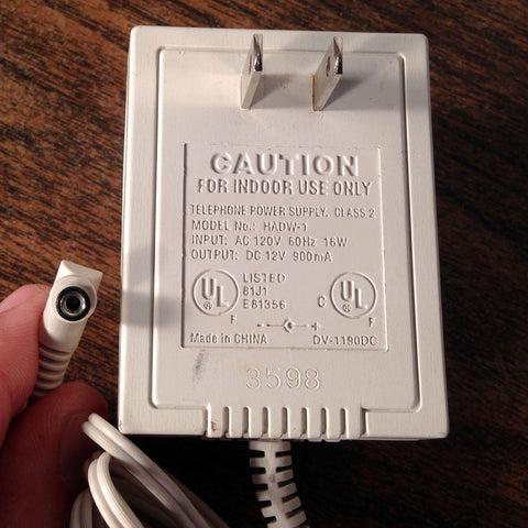 HADW-1 12V DC 900mA Cordless Phone Power Supply Adapter Wall Wart