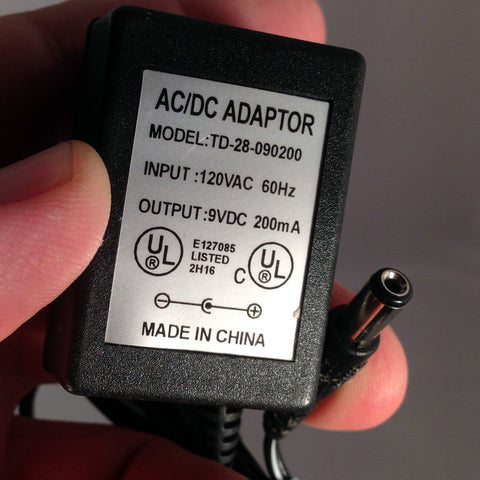 TD-28-090200 9VDC 9V 9volt 200mA Power Supply Adapter
