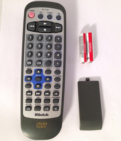 MINTEK DVD PLAYER REMOTE CONTROL RC-320 DVD-1500 DVD2110 DVD-2110