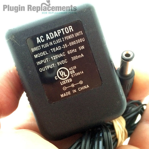 TEAD-35-090300U OEM Power Supply Adapter Charger Cord 9VDC 9V 300mA Direct Plug