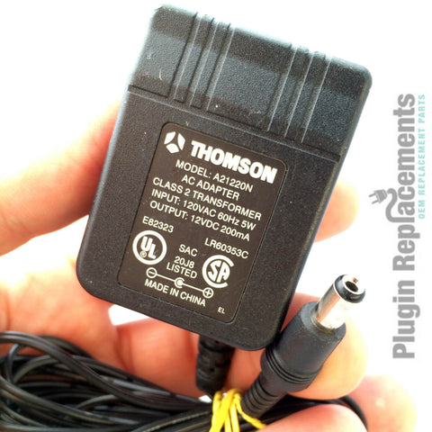 Thomson A21220N OEM Power Supply Adapter Charger 12VDC 12V DC 200mA