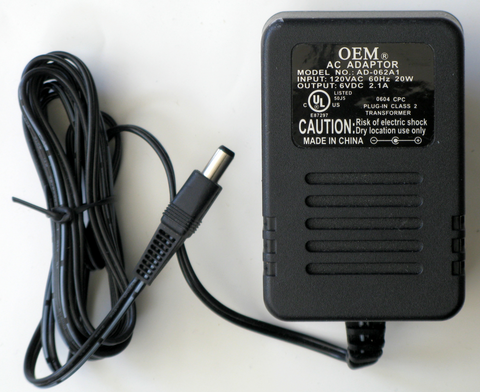 0AD1-0006-21B AD-062A1 6VDC 6V 2.1AMP 2.1A Power Supply Adapter