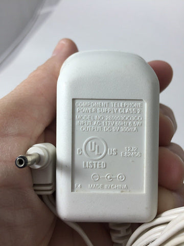 280903OO3CO 9V 300mA DC Power Supply Adapter